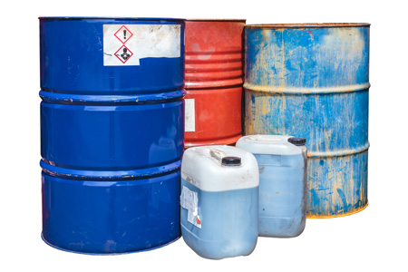 Barrels with haxardous substances