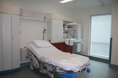 A Labour/Birthing Room at Palmerston North Hospital.