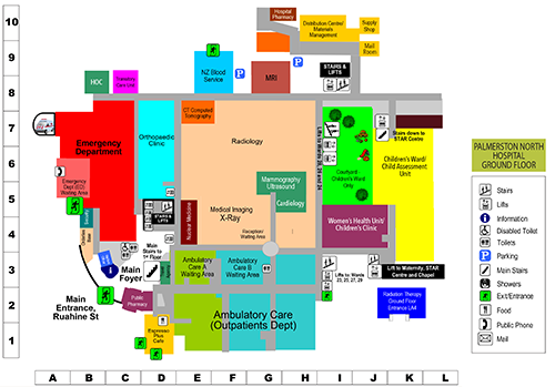 Palmerston north hospital maps palmerston north hospital ground floor map malvernweather Gallery